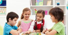 Kids playing board game in their room. Four kids playing board game in their roo , Preschool Board Games, Social Skills For Kids, Young Engineers, Cooperative Games, Four Kids, Learning Through Play, Children Images, Matching Games, Kids House