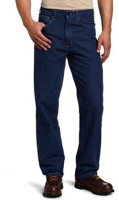454caab71d72 Carhartt Men s Flame Resistant Signature Denim Jean Relaxed Fit