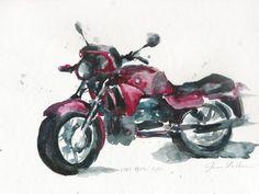 watercolor motorcycle - Szukaj w Google