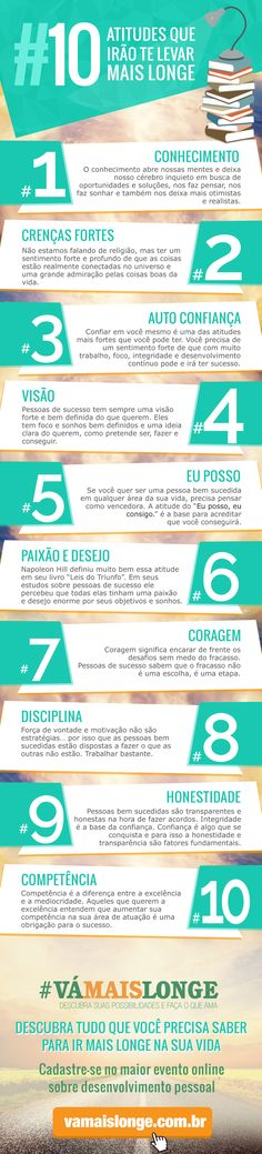 Infografico - 10 Atitudes que irao te levar mais longe