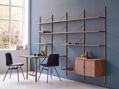 This week's featured designer is famous for his ground-breaking shelving systems - which is still making waves today Ikea Shelving Unit, Office Shelving, Modular Shelving, Shelving Systems, Storage Shelves, Shelf System, Danish Furniture, Modular Furniture, Luxury Furniture