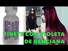 Tiñete de Morado/Azul/Rosa con VIOLETA DE GENCIANA / How To Dye Your Ha...