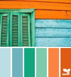 green, teal, and blue..with a hint of orange for the dining room/kitchen? - Google Search