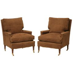 Pair of Bergeres Attributed to Maison Jansen with a Second Pair Available | From a unique collection of antique and modern bergere chairs at https://www.1stdibs.com/furniture/seating/bergere-chairs/
