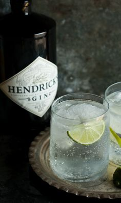 how to make the best gin and tonic! My favorite gin and of course I use a slice of cucumber.