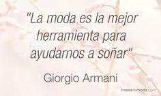 Frases de Giorgio Armani, diseñador de moda