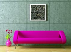 Neon pink couch!