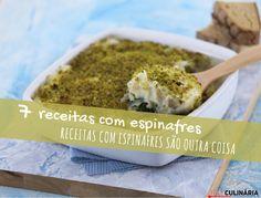 7 receitas com espinafres - Descubra receitas deliciosas, truques, dicas, cursos, o Blog Culinária A-Z e muito mais!