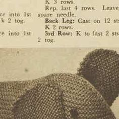 ELEGANT ELEPHANT - He is elegant as elephants go! And he's quickly knitted in plain garter-stitch. - The Australian Women's Weekly - - 25 Nov 1959 Knitting Patterns Boys, Knitting Stiches, Free Knitting, Baby Knitting, Crochet Baby, Knit Crochet, Crochet Patterns, Doorstop Pattern, Garter Stitch