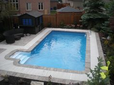 Simple Inground Pool Designs incredible simple backyard swimming pool design ideas using grey slide also concrete deck flooring plus chrome Rectangular In Ground Pool Kits From 449999
