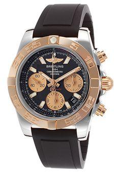 Men's Chronomat 41 Automatic Black Rubber Black Dial $5100