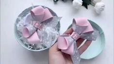 Xmas Gift Pretty Pink Rose Bath Petals/ Confetti in Heart Shaped Box UK Hair Ribbons, Diy Hair Bows, Diy Bow, Diy Ribbon, Ribbon Hair, Bow Hair Clips, Ribbon Bows, Felt Hair Accessories, Hair Accessories For Women