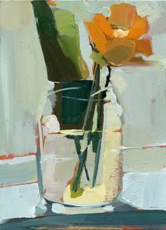 ❀ Blooming Brushwork ❀ - garden and still life flower paintings - Lisa Daria example of split complementary color scheme Still Life Painting, Art Painting, Floral Painting, Floral Art, Still Life Art, Painting, Art, Abstract, Beautiful Art