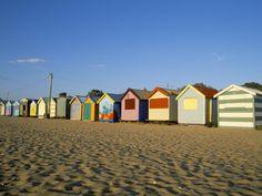 Beach Huts at Brighton Beach, Melbourne, Victoria, Australia