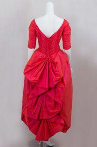 Loris Azzaro taffeta evening dress, 1970s.