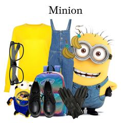 """""""Minion/DespicableMe/1-26-16"""" by megan-vanwinkle ❤ liked on Polyvore featuring MiH, Vans and Oasis"""