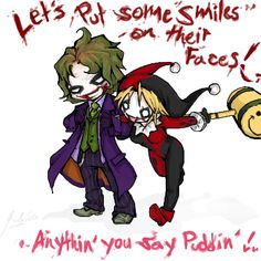 +Chibified+ Joker n Harley by ~RastaPickney-Juls on deviantART