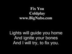 Fix You Lyric ColdPlay