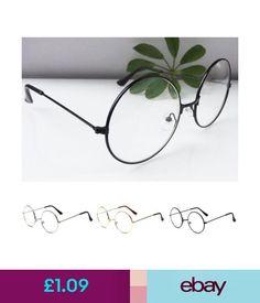 540c6653855 Glasses Frames Womens Mens Large Oversized Metal Frame Clear Lens Round  Circle Eye Glasses  ebay