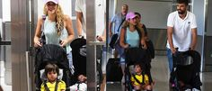 Fotos: Shakira chega a Miami com Gerard Piqué e os filhos