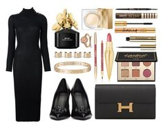 """""""Bye 2016, Hello 2017"""" by ordinarydays ❤ liked on Polyvore featuring Balmain, Christian Louboutin, tarte, Yves Saint Laurent, Hermès, Too Faced Cosmetics, Versace, Anastasia Beverly Hills, Sisley and Burberry"""