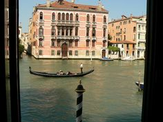 View from our hotel in Venice, Italy of the Grand Canal