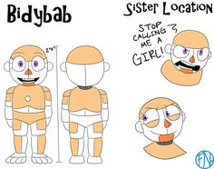 Bidybab Reference Sheet by FNAFNations