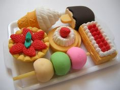 Cute Food Eraser Set
