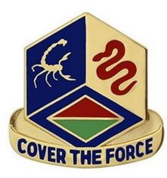 460th Chemical Brigade Unit Crest (Cover the Force)