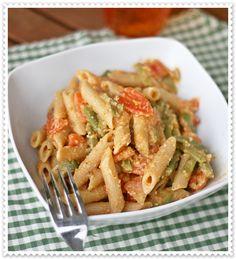 Pennette integrali con fagiolini, pomodori e crema di mandorle 3