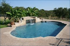 Backyard Pool Designs, Swimming Pools Backyard, Swimming Pool Designs, Pool Landscaping, Grotto Pool, Pool Water Features, Pool Waterfall, Modern Pools, Pool Builders