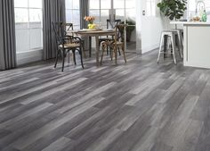 Stormy Gray Oak - a waterproof luxury vinyl plank! | Silver & Gold Collection