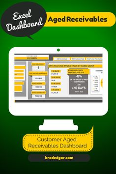 Great Aged Receivables Excel Dashboard Product