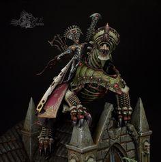 "Warhammer Age of Sigmar | Undead | Neferata, Mortarch of Blood by Anton Pryakhin ""Seemann"" #warhammer #ageofsigmar #aos #sigmar #wh #whfb #gw #gamesworkshop #wellofeternity #miniatures #wargaming #hobby #fantasy"