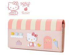 Hello Kitty x Rosier Luxury Leather Long Wallet Purse Pink SANRIO JAPAN Online Shop / Online Store - 01