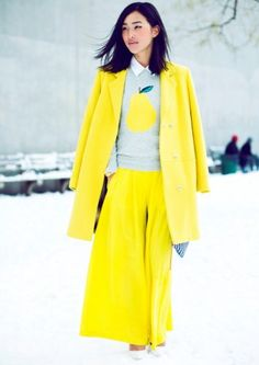 yellow-winter-coat-with-fruit-print-sweater