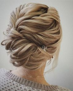 Romantic wavy updo