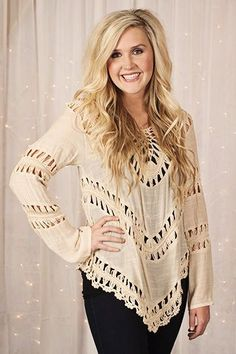 Glamour Farms - Romance and Lace Top - $42 - Natural