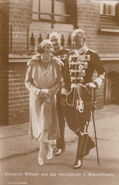 Crown Prince Wilhelm of Prussia and the Duke and Duchess of Brunswick