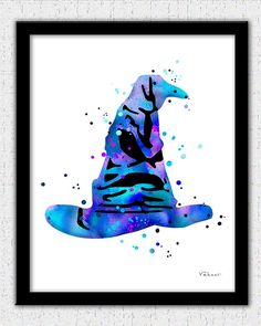 Sorting Hat art print Harry Potter poster Sorting Hat art