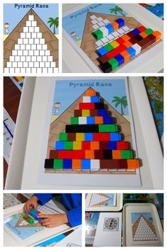 Pyramid Race Unifix Game - Part of the Unifix Cubes Print & Play Game Mats packet