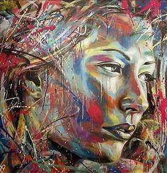Spray paint portrait by David Walker