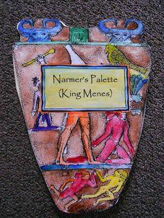 Narmer Palette (Menes) Bio Book  http://allthatsgoood.blogspot.com/2012/02/ancient-egyptian-kings-and-queens.html