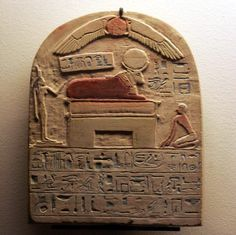 Stele to Apis. Reign of Psametik I. Louvre Museum. Ancient Egypt.