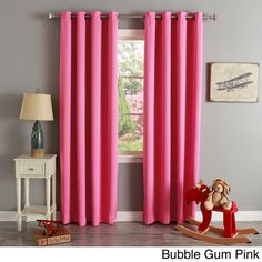 Aurora Home Thermal Insulated Blackout Grommet Top 84 Inch Curtain Panel Pair By