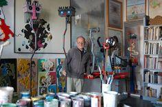 Giampiero Poggiali Berlinghieri in studio a Firenze 2016