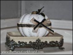 Dollar Pumpkin gets a redo... Cluttered Corkboard