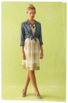 This Anthropologie dress needs to get in my closet.  Have a similar shirt, so I'm good to go.  Get ON SALE, please!