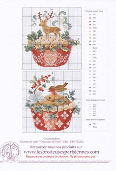 Points de croix *<3* Cross stitch cupcakes