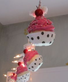 Fake Cupcake Hot Pink Rockabilly String of by 12LegsCuriosities